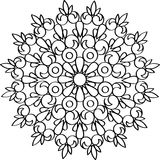 Cirkel vectorornament Rond Patroon Mandala Stock Illustratie