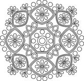 Cirkel vectorornament Rond Patroon Mandala royalty-vrije illustratie