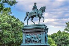 Cirkel Washin för general John Logan Civil War Memorial Logan arkivbild