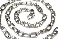 Cirkel zilveren metaalketting royalty-vrije stock afbeelding