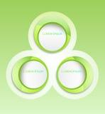 Cirkelbanerklistermärke Arkivfoto