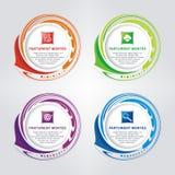 Cirkelbanner met Golvend voor infographic, banner of embleem vector illustratie