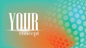Cirkelbeståndsdelbakgrund, världen är färger för en cirkel ser upp ett härligt förhållande vektor illustrationer