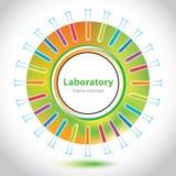 Cirkelbeståndsdel - laboratoriumrör - abstrakt bakgrund Royaltyfria Foton