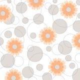 cirkelblommavektor vektor illustrationer