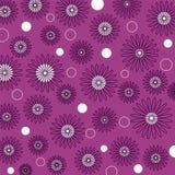cirkelblommor vektor illustrationer