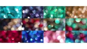 CirkelBokeh färg arkivfoto