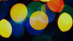 Cirkelbokehcristmas fonkelt lichten abstracte achtergrond royalty-vrije illustratie