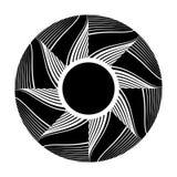 Cirkeldesignbeståndsdel Rotationsmodell Vektor Illustrationer
