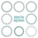 Cirkeldesignbeståndsdelar Arkivfoto