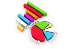 Cirkeldiagram Stock Afbeeldingen