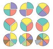 Cirkeldiagram Fotografering för Bildbyråer