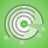 Cirkeldiagram infographic malplaatje Stock Foto's