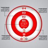 Cirkeldiagram met pictogrammen voor bedrijfsconcepten Royalty-vrije Stock Fotografie