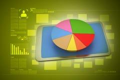 Cirkeldiagram op slimme telefoon Stock Afbeeldingen