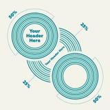 Cirkeldiagram vlakke illustratie Royalty-vrije Stock Foto