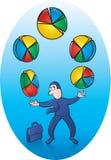 Cirkeldiagramjuggler royalty-vrije illustratie