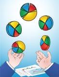 Cirkeldiagramjuggler stock illustratie