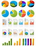 Cirkeldiagrammen Stock Afbeeldingen