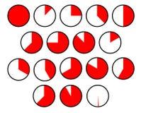 Cirkeldiagramsecties Stock Afbeelding