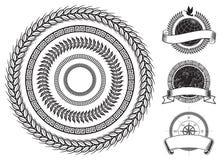 cirkelelementram royaltyfri illustrationer