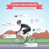 Cirkelend of biking infographic ontwerpmalplaatje stock illustratie