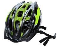 Cirkelend Helm die op Wit wordt geïsoleerd Stock Fotografie
