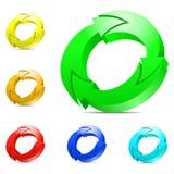 Cirkelende pijlen. Stock Afbeeldingen