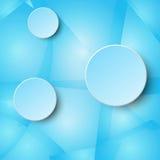 cirkeletikett för blått papper 3d på det glass begreppet för bakgrund för design för mosaikblåttabstrakt begrepp Fotografering för Bildbyråer