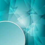 cirkeletikett för dokument med olika förslag 3d i hörnet på för mosaikabstrakt begrepp för grönt exponeringsglas begrepp för bakg Royaltyfri Bild
