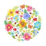 Cirkelform som göras med blommor Royaltyfria Foton