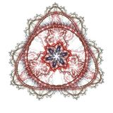 Cirkelfractal binnen driehoek Stock Illustratie
