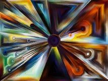 Cirkelgebrandschilderd glasontwerp Royalty-vrije Stock Afbeelding