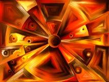 Cirkelgebrandschilderd glasontwerp vector illustratie