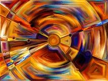 Cirkelgebrandschilderd glasontwerp royalty-vrije illustratie