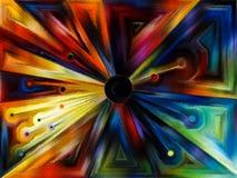 Cirkelgebrandschilderd glasontwerp Royalty-vrije Stock Foto