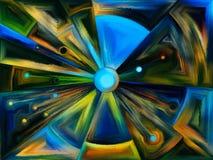 Cirkelgebrandschilderd glasontwerp Stock Foto's