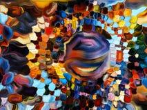 Cirkelgebrandschilderd glasontwerp Royalty-vrije Stock Afbeeldingen