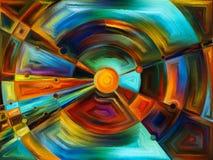 Cirkelgebrandschilderd glasontwerp Royalty-vrije Stock Fotografie