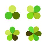 Cirkelgräsplan lämnar naturekologilogo royaltyfri illustrationer