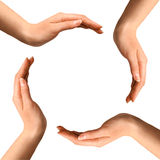 cirkelhandframställning Fotografering för Bildbyråer