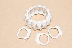 Cirkelhandtagplast- av canen Fotografering för Bildbyråer