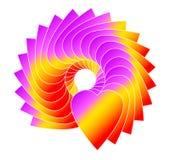 cirkelhjärta Arkivfoto