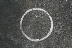 Cirkelhoogte op cement royalty-vrije stock foto's