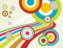 cirkelillustrationwave Arkivfoto