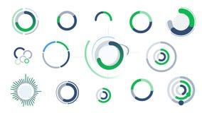 Cirkelinfographics - diagram, diagram och diagram