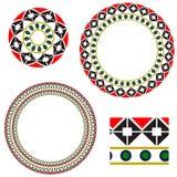Cirkelkader met elementen van nationaal Oekraïens borduurwerk Royalty-vrije Stock Afbeeldingen