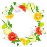 Cirkelkader van groenten Royalty-vrije Stock Afbeelding
