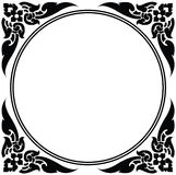 Cirkelkader van Thais patroon Stock Fotografie