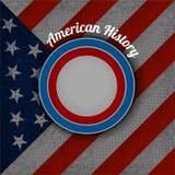 Cirkelkader voor uw etiket op de vlag van de V.S. Royalty-vrije Stock Afbeeldingen